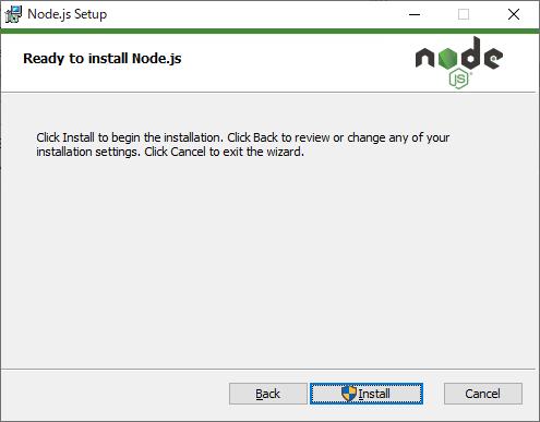 Node.js セットアップ インストール準備完了と開始