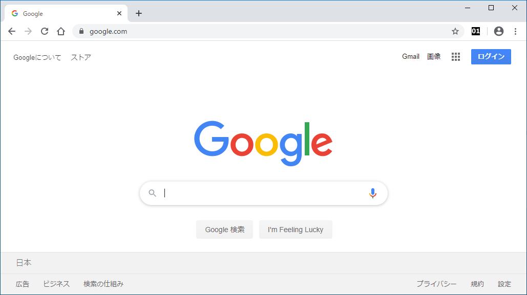 Chrome ウィンドウ