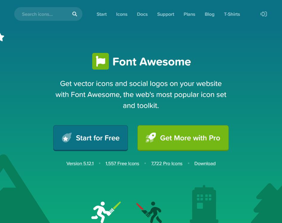 Font Awesome ホームページ