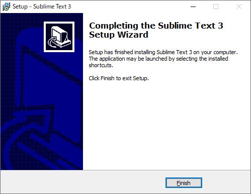 Sublime Textのインストール完了