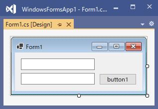 テキストボックスのPlaceholderTextプロパティ設定用のサンプルフォームのデザイン