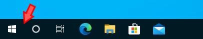 Windowsの検索ボックスを非表示にしたタスクバー