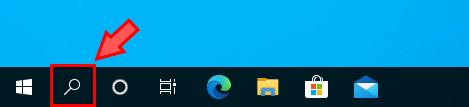 Windowsの検索ボックスを検索アイコンにしたタスクバー