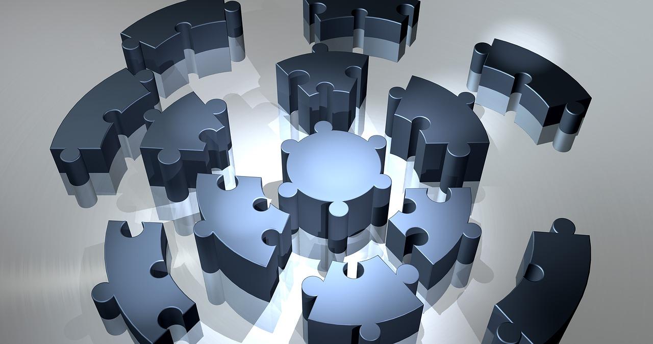 パズルピースによるコンポーネントシステムのイメージ
