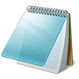 Windows10 メモ帳のアイコン