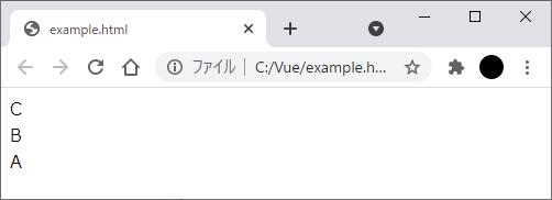 Vue.jsのコンポーネントをグローバル登録してサブコンポーネントからコンポーネントを相互に参照した実行結果