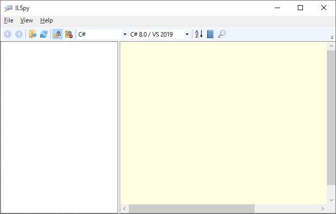 ILSpyのツリービューのすべてのアセンブリを削除
