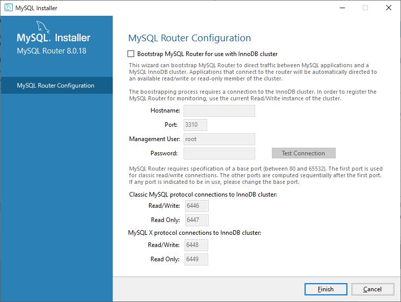 MySQL Routerの設定